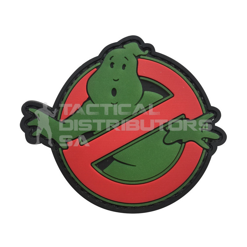 """TacSpec """"No Ghost"""" PVC Velcro Patch - Glow In The Dark"""