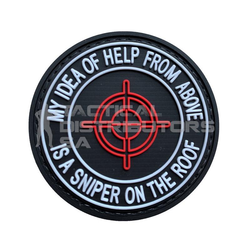 "TacSpec ""My Idea of Help is a Sniper"" PVC Velcro Patch"