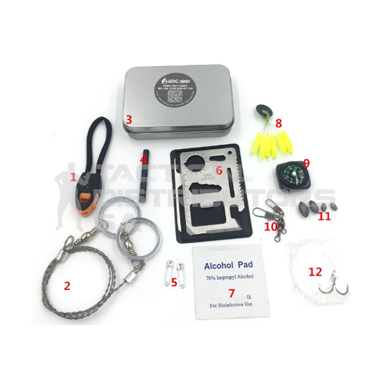 DZI Pocket Tin Emergency Survival Kit