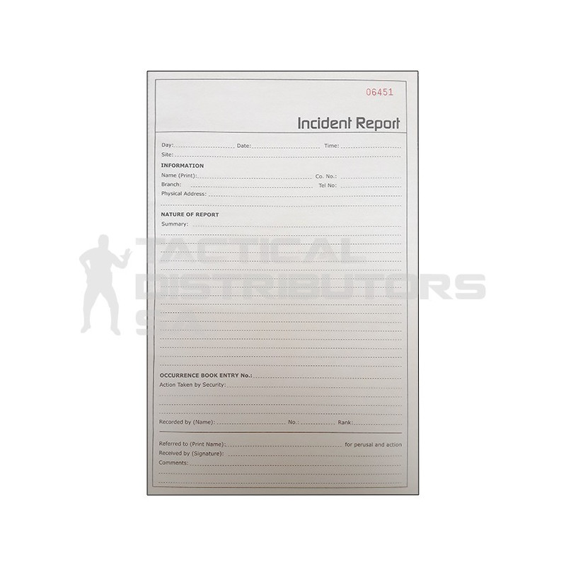 Incident Report Book