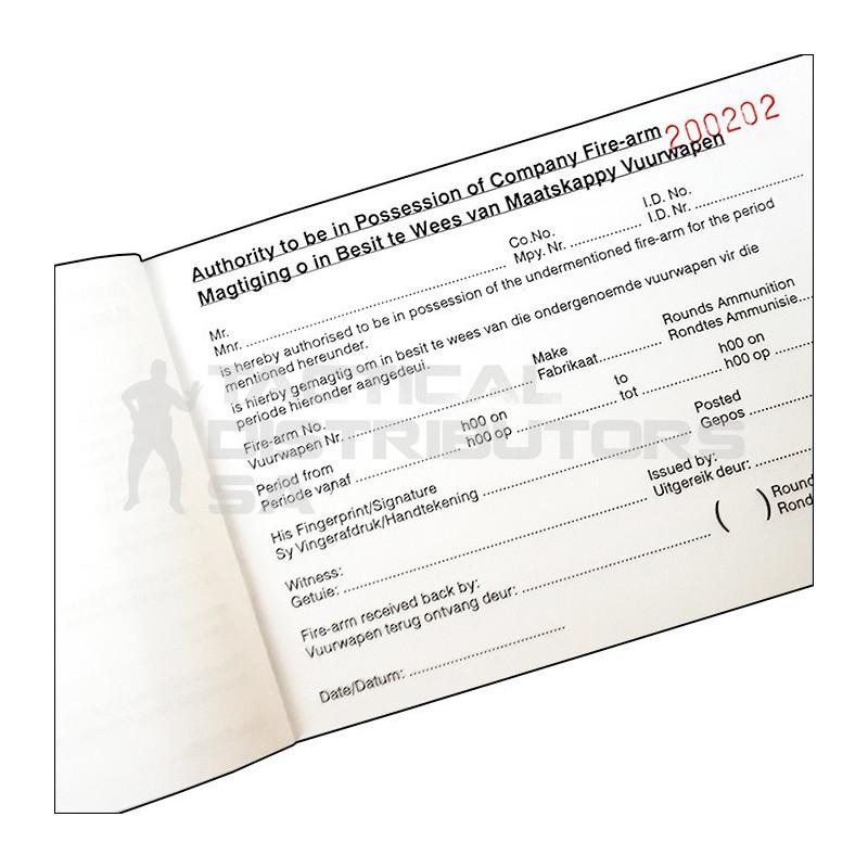 Firearm Permit Book