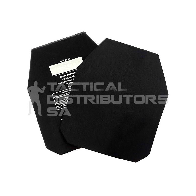 Level III SA Mix ICW Ceramic Plate - 300x250mm M-Curve SAPS/SANDF Spec.