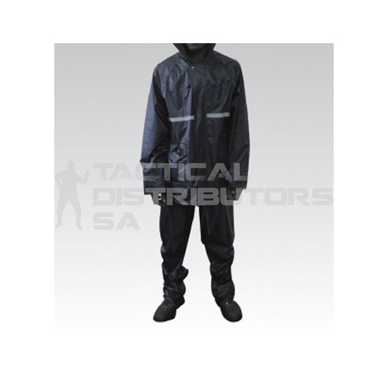 Rubberised Rain Suit with Reflective Tape - Various Colours