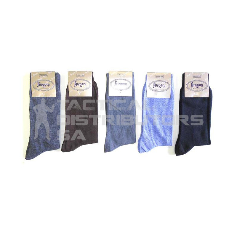 Gregory Plain Budget Formal Cotton Socks - Various