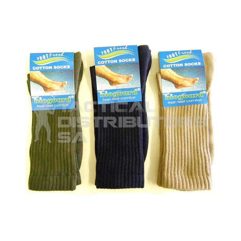 Bioguard Army Calf Length Cotton Socks - OSFM - Various
