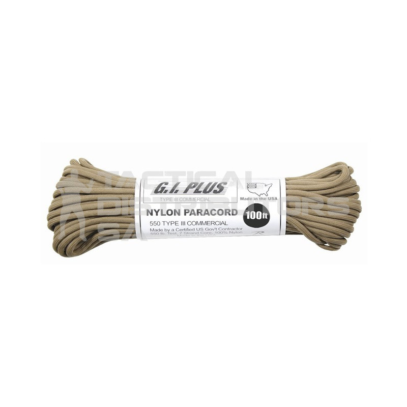 100ft Type III 550 Nylon Paracord - Various