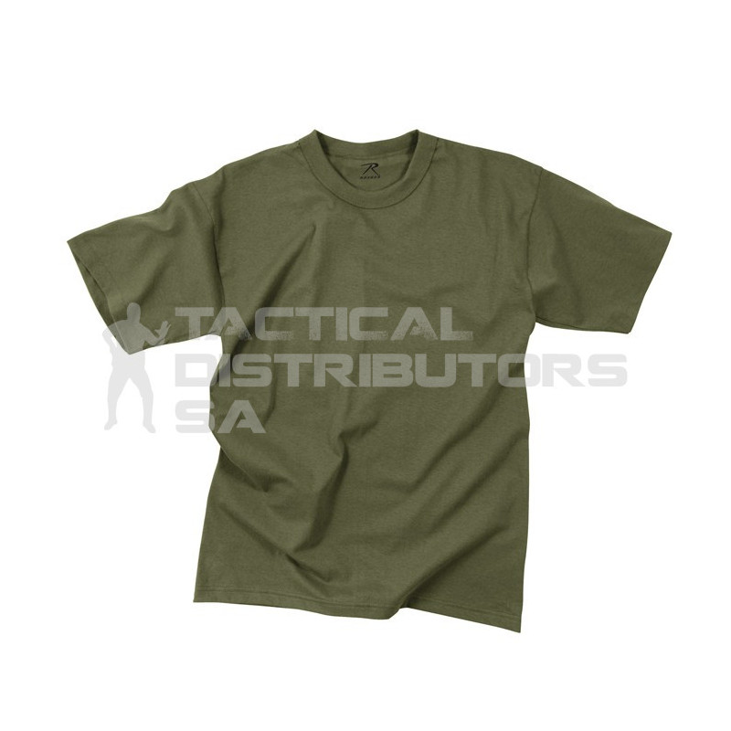 100% Cotton Plain Military Style T-Shirt - Various