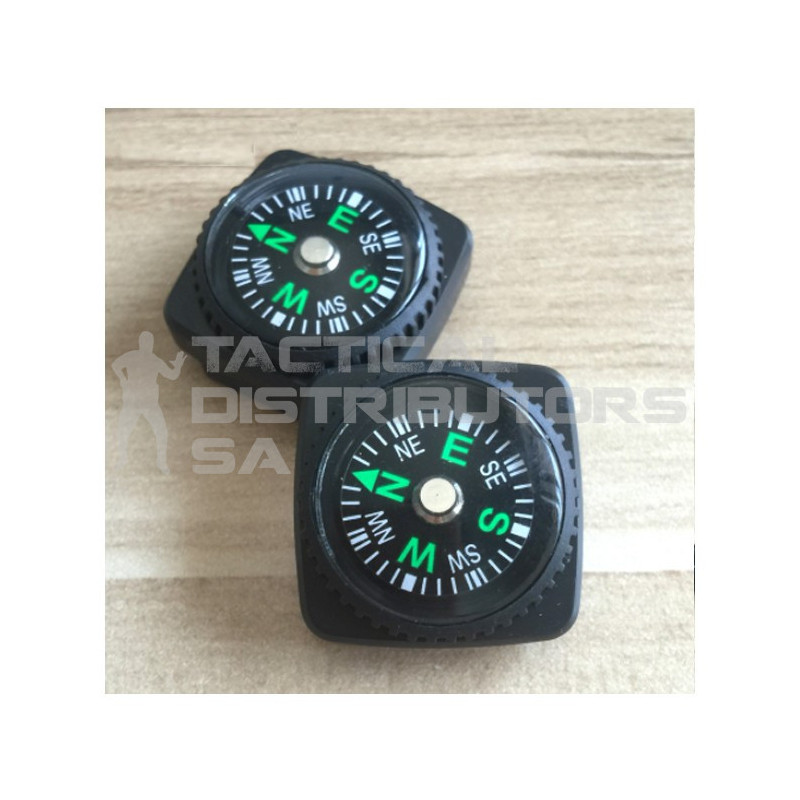 DZI 25mmx25mm Mini Zipper/Utility Survival Compass