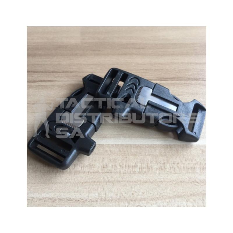 DZI 25mm Side Release Paracord Bracelet Firestarter Survival Buckle