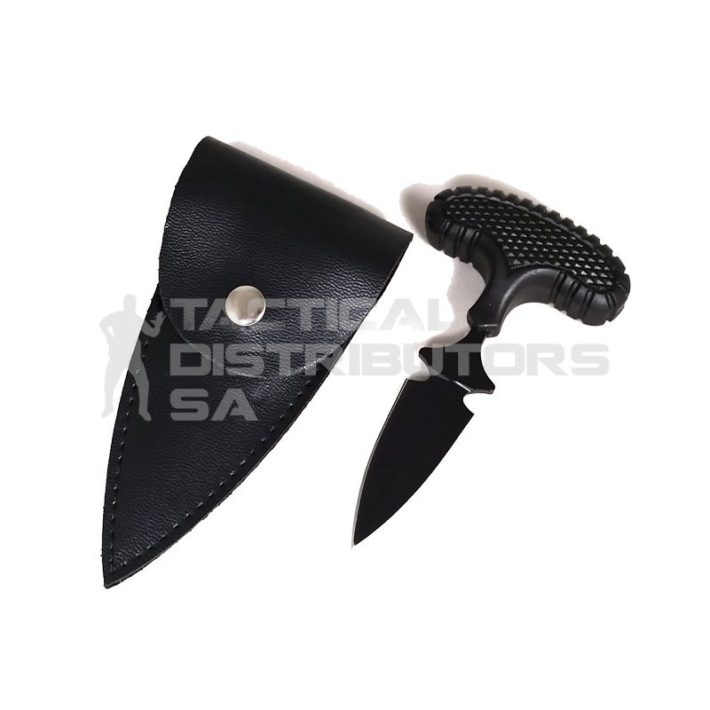 100mm Push Dagger with Pouch - Black