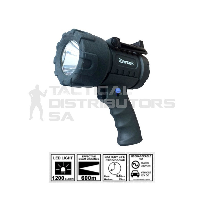 Zartek 1200 Lumen EX Mega Bright Rechargeable Spotlight...