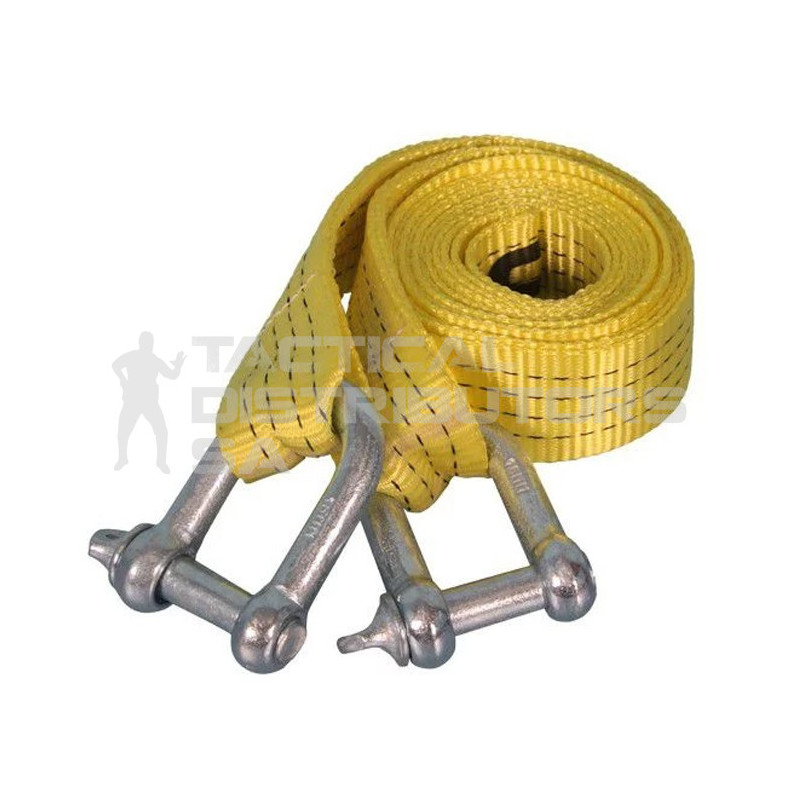 Securetech Tow Strap with Shackles - 4 Ton, 16mm x 3.5m