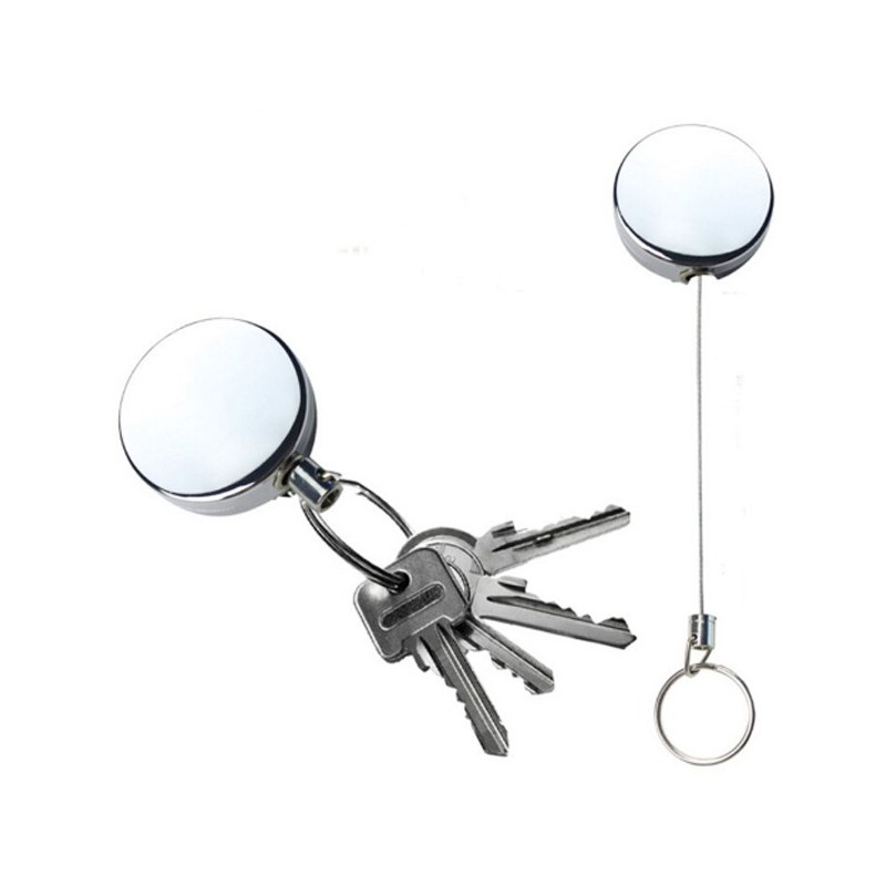 Basic Retractable Key/Gear Lanyard with Belt Clip