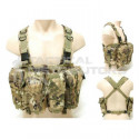 Basic AK Style Chest Rig with 6 x Pouches - Various