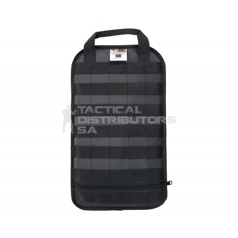 DZI Ripstop Compact MOLLE Pack Insert Panel (390mmx230mm) - 2 Sided - Black