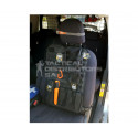 DZI Ripstop MOLLE Vehicle Seat Panel (600mmx400mm) - Black