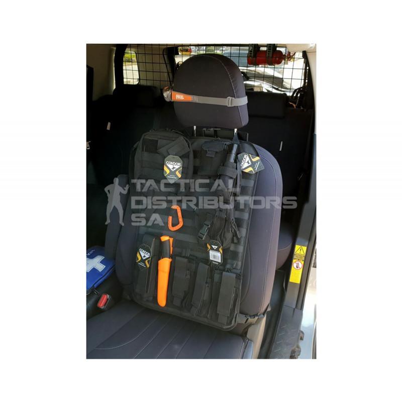 DZI Ripstop MOLLE Vehicle Seat Panel (600mmx400mm) - Black