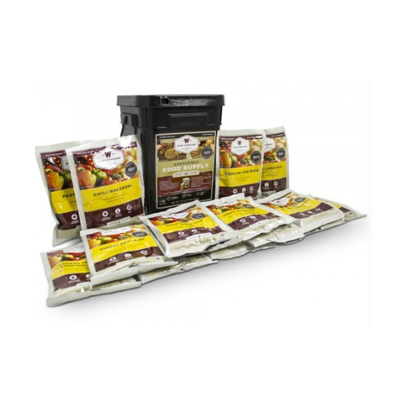 Grab & Go Freeze Dried Entree/Main Course Emergency Meals - 60 Servings