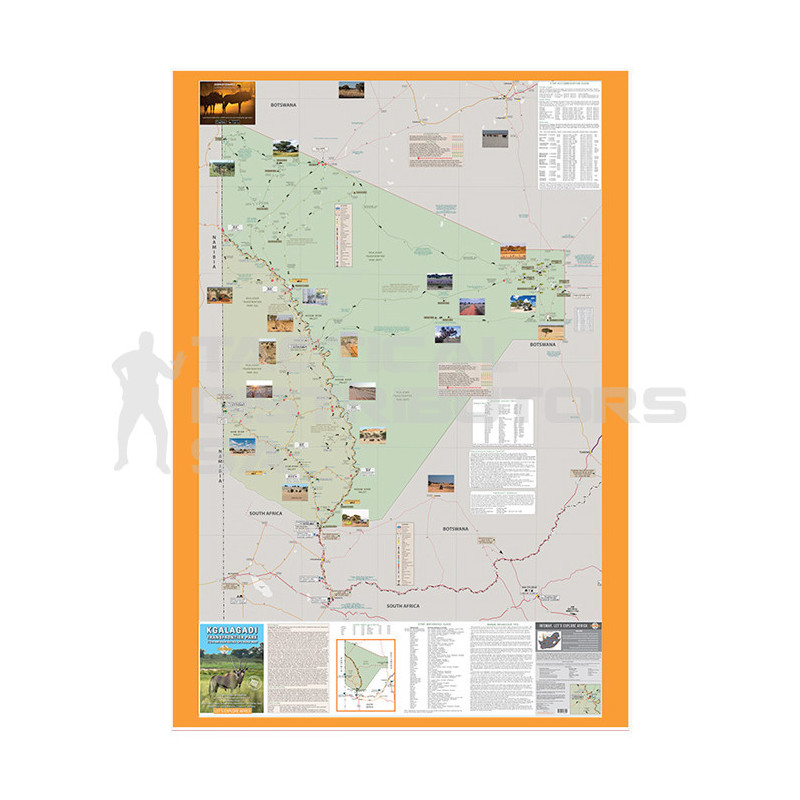 Infomap Paper Map - Kgalagadi Transfrontier Park 3rd Edition (2016)  'Rock Paper'
