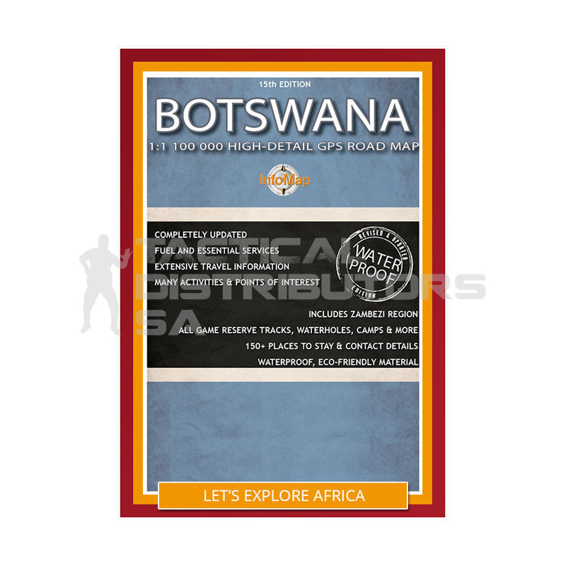 Infomap Paper Map - Botswana 15th Edition (2017)  'Rock Paper'