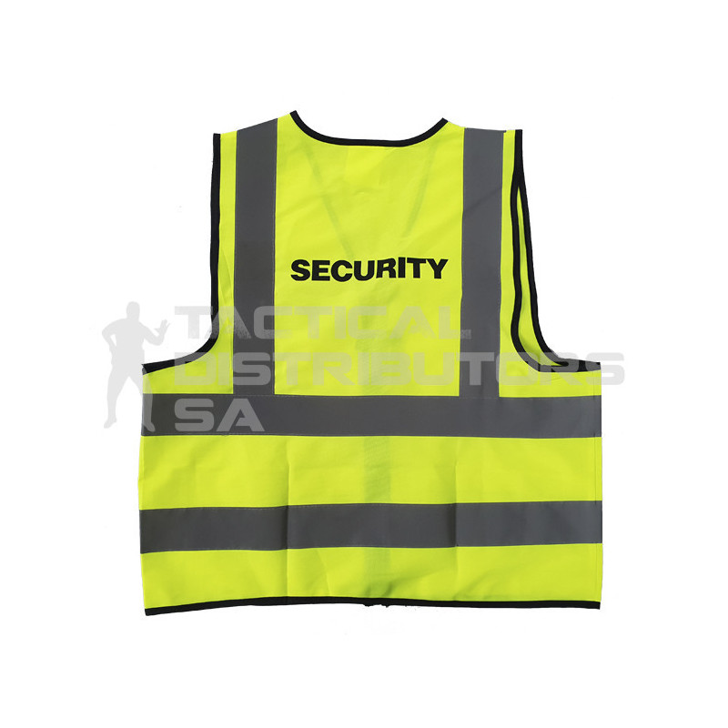 """SECURITY"" Branded Reflective Jacket with Zip and ID..."