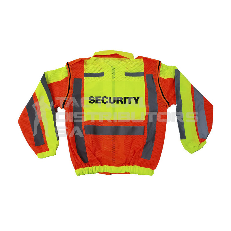 """SECURITY"" Branded Metro Reflective Jacket with Detachable Sleeves"