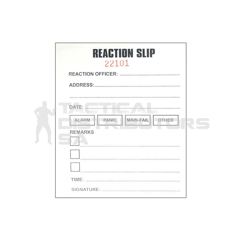 Reaction Slip Book