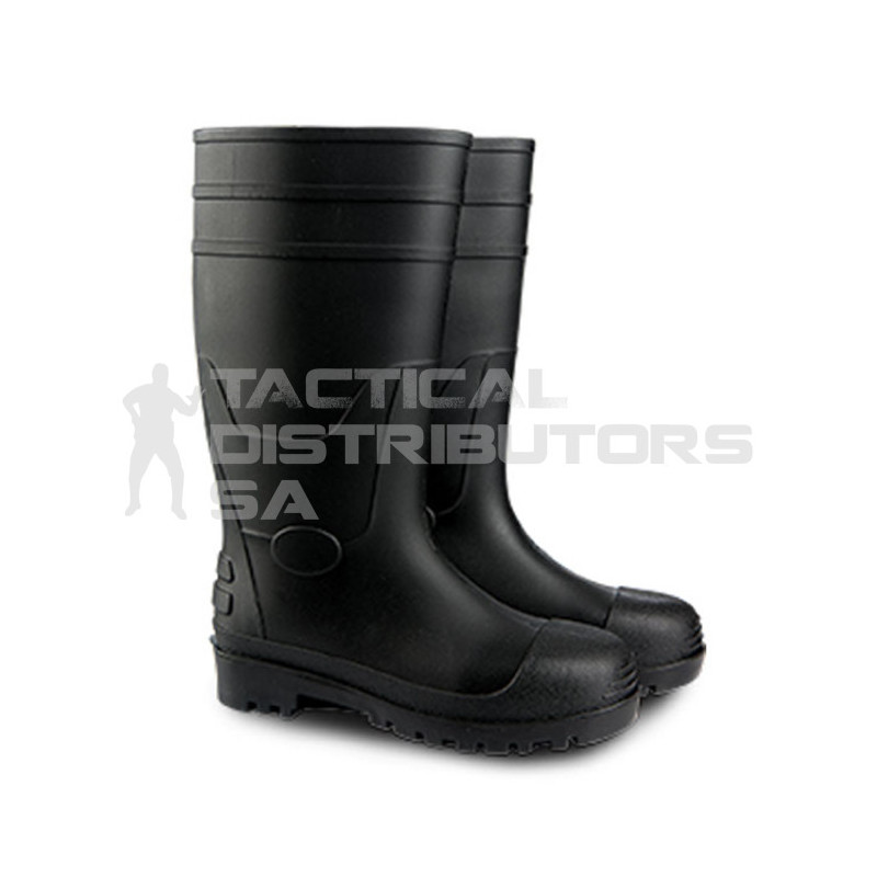 Dot Leo Black Gumboot - Various