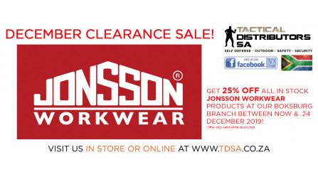 TDSA Boksburg Jonsson Workwear Clearance Sale