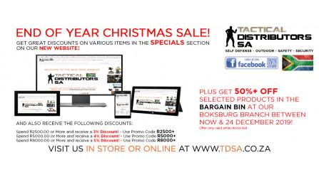 TDSA Year End Christmas Sale!
