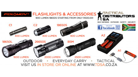 Folomov Flashlights and Accessories Now Available from TDSA!