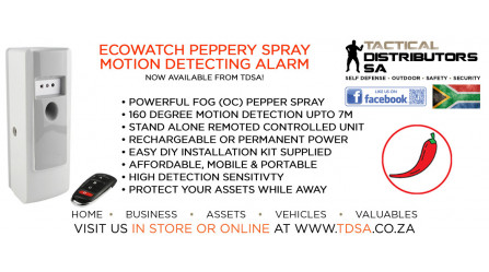 Ecowatch Motion Detecting Pepper Spray Alarm Now Available!