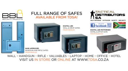 Full Range of Safes Available from TDSA!