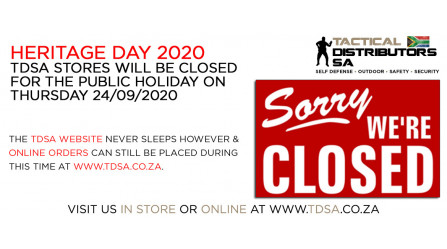 TDSA is Closed for the Public Holiday on 24/09/2020!