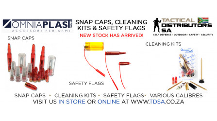 New Omniaplast Snap Caps and Chamber Safety Flag Stock Has Arrived!