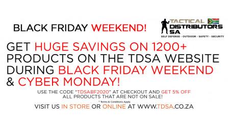 HUGE Black Friday Weekend Savings with TDSA!