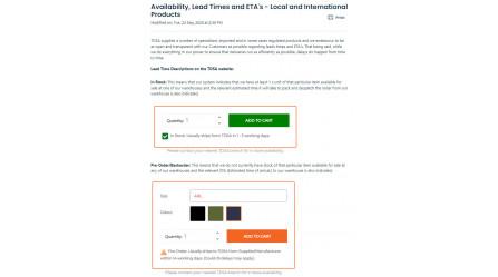 TDSA Customer FAQ/Self-Help Portal