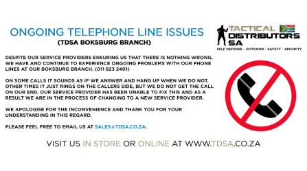 Ongoing Telephone Line Issues at our Boksburg Branch!