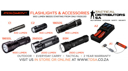 A New Folomov Flashlights and Accessories Shipment has just Arrived!