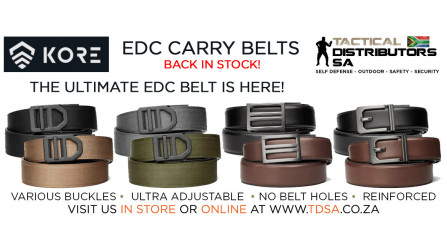Kore Essentials EDC Ratcheting Belts are Back in Stock!